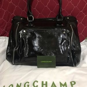 Pre-Owned Longchamp Large Black Satchel